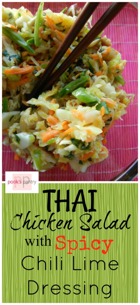 Thai chicken Slad with Spicy Chili Lime Dressing | Pook's Pantry