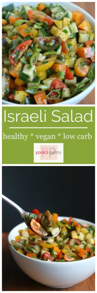 Israeli Salad - The Perfect Summer Bite | Pook's Pantry