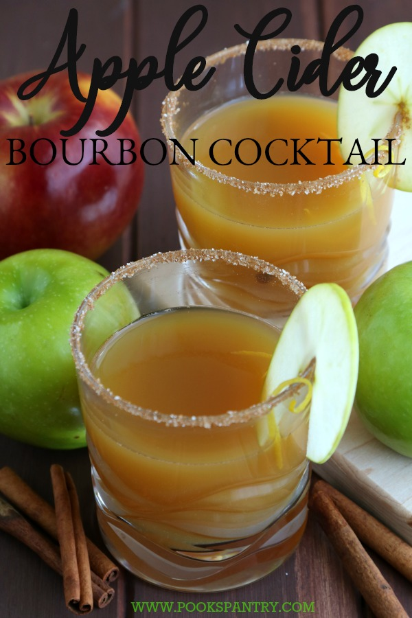 Apple cider bourbon cocktails are perfect for fall.  Fresh apple cider is readily available and bourbon is its perfect match.  With a dash of nutmeg and cinnamon, this apple cider and bourbon drink will be your new fall favorite.
