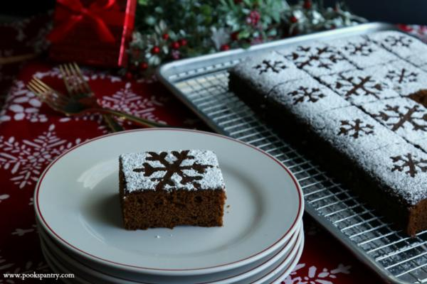 classic gingerbread cake recipe on stacked cake plates