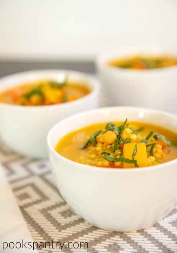 vegan vegetable chickpea soup