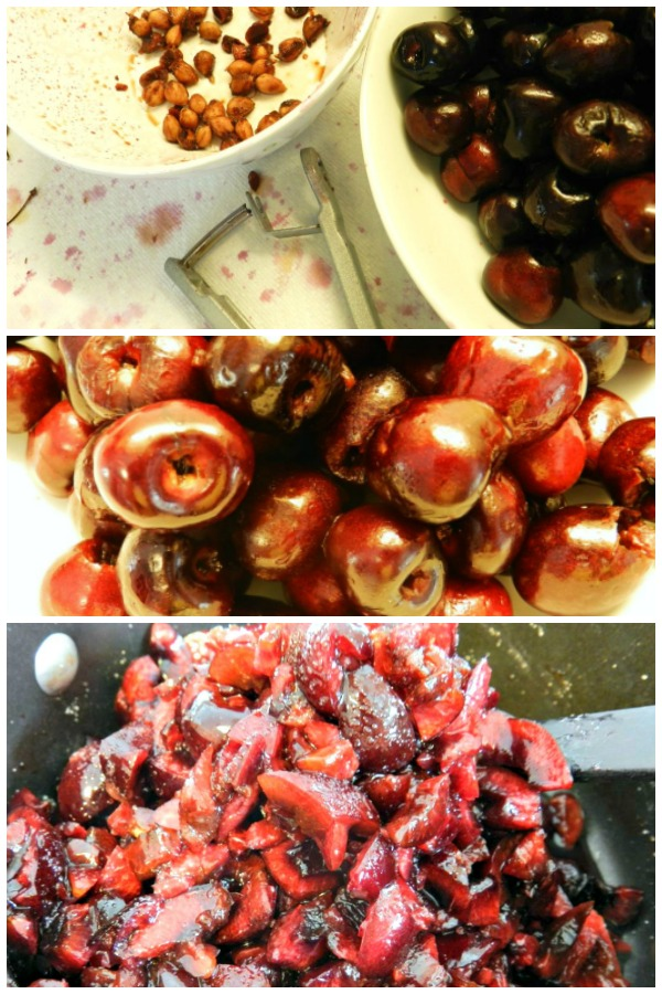 step by step photos of cherry filling