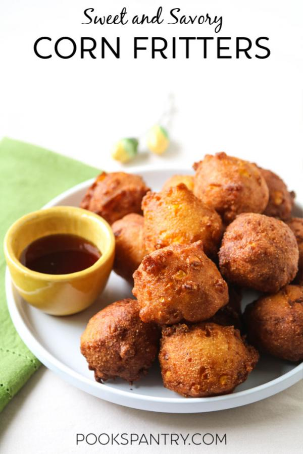 Easy corn fritters from scratch are the perfect way to use sweet, summer corn.  #cornfritters #cornfrittersrecipe #cornnuggets