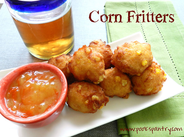 Sweet Corn Fritters & a Cold Beer= Perfection
