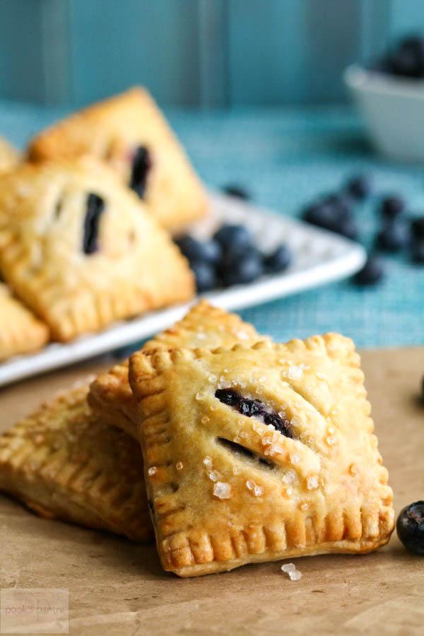 blueberry pie with coarse sugar
