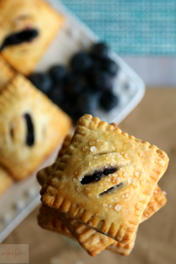 Blueberry Mini Pies stacked high