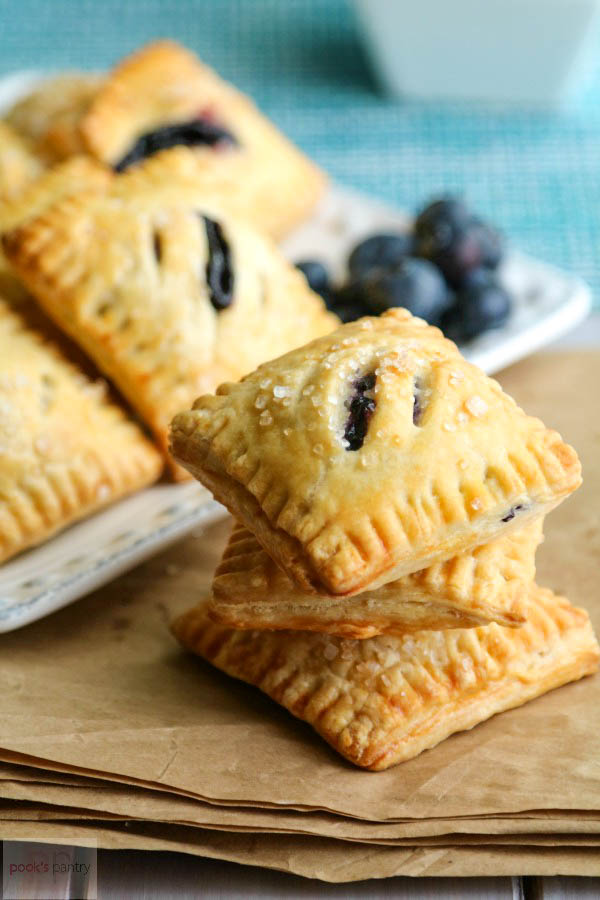 mini pies with blueberries