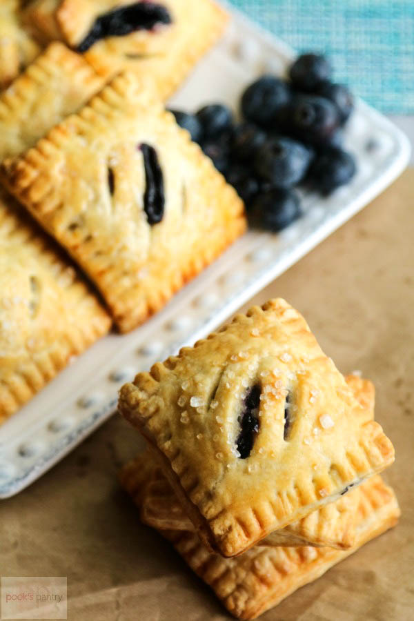 hand held blueberry pies