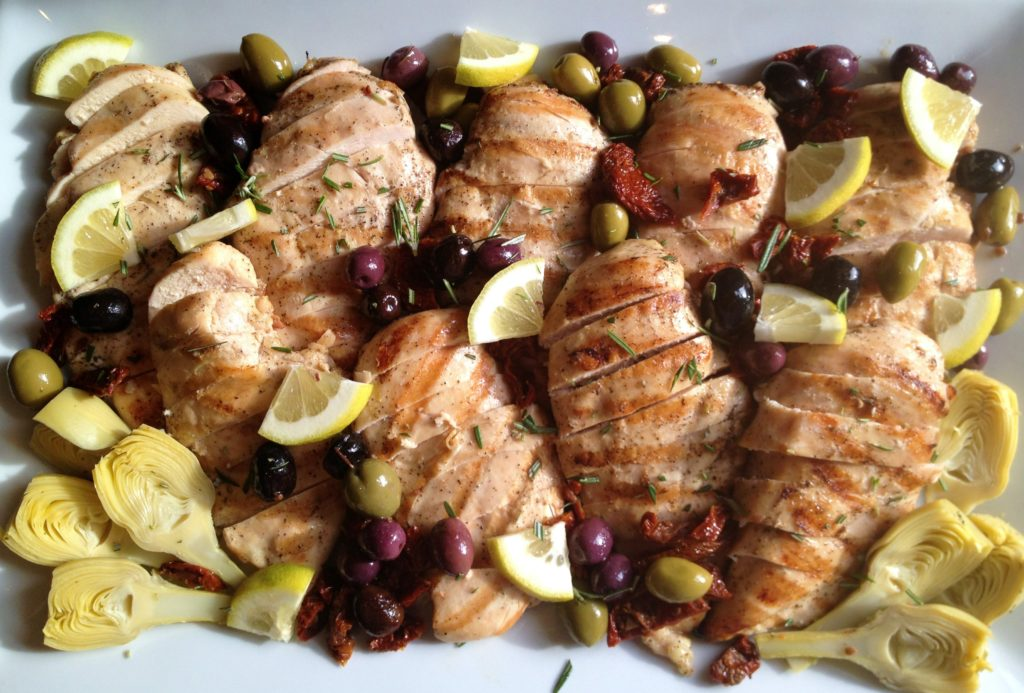 Grilled Chicken with Lemon & Olives