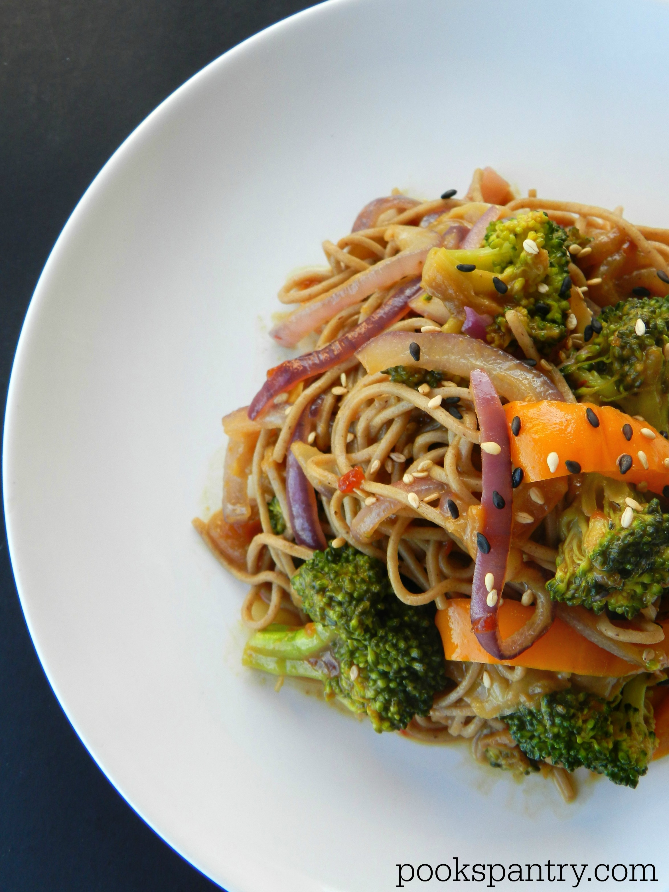 Soba Noodles with Stir Fried Vegetables - Pook's Pantry