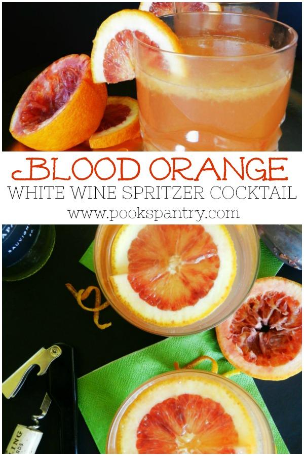 blood orange white wine spritzer pin