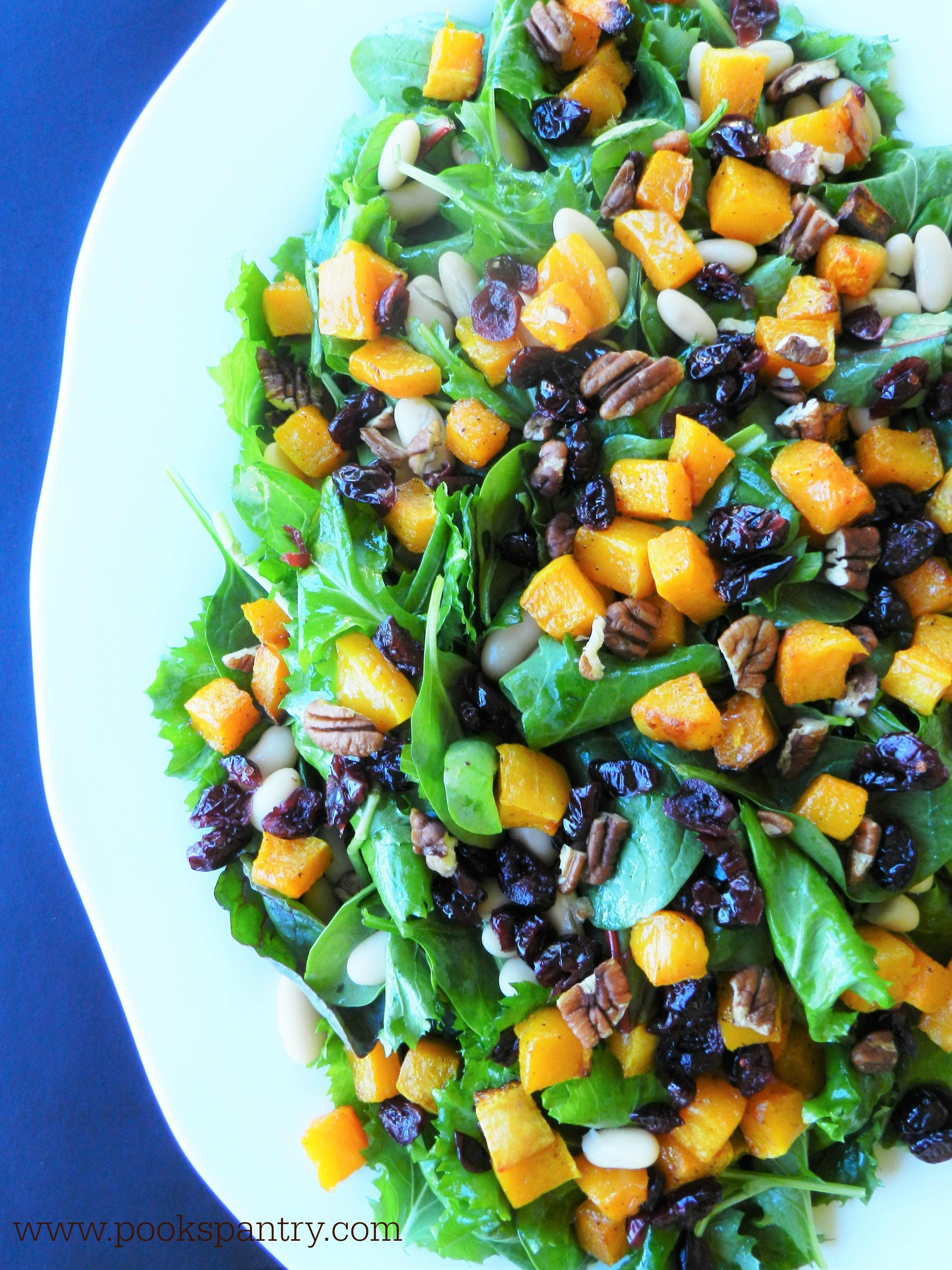 butternut arugula salad 2 pp