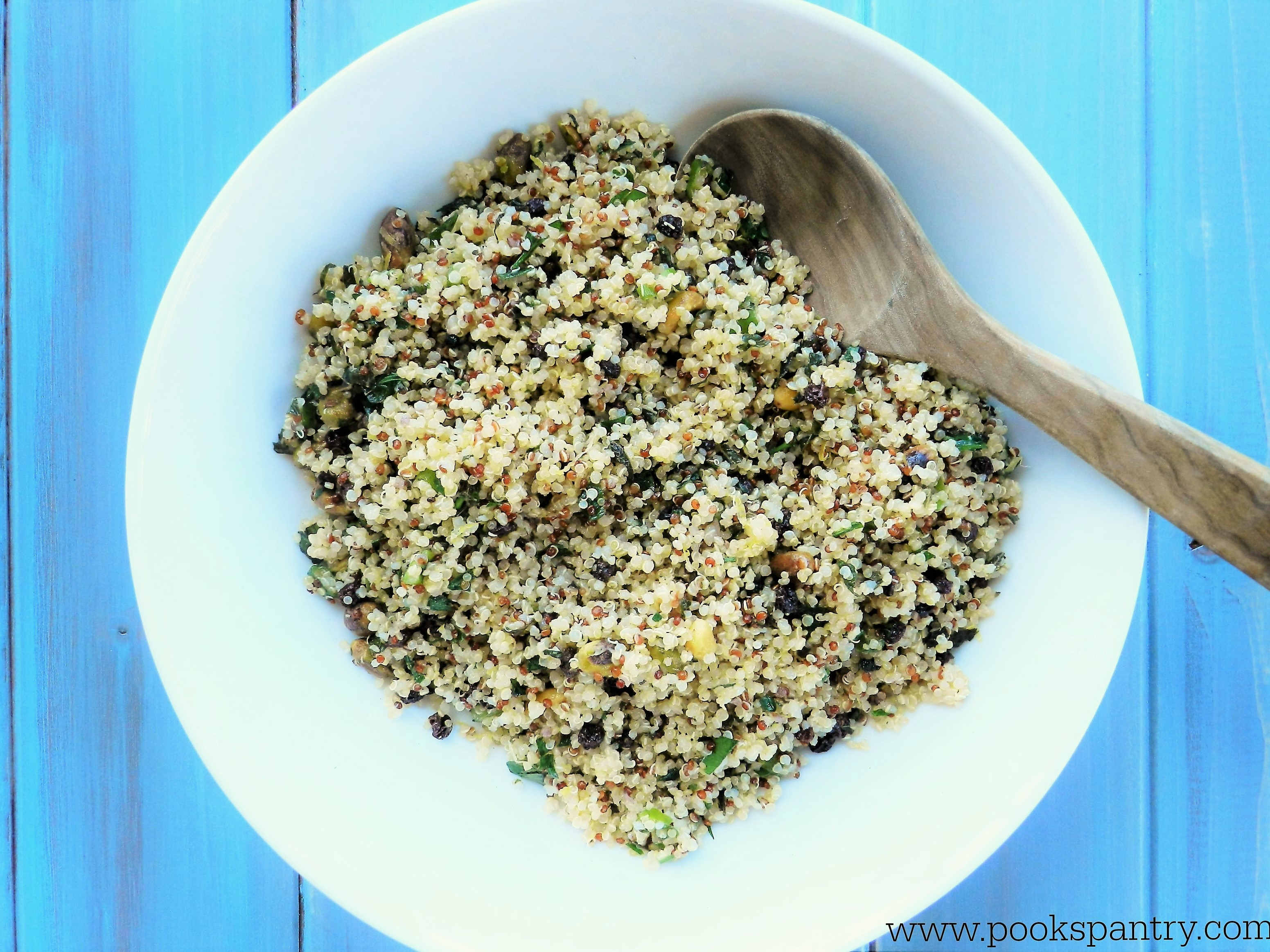 quinoa with pistachios & mint