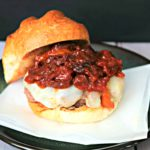 Italian Sausage and Peppers Burger