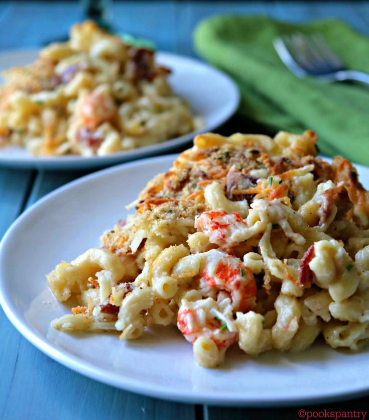 Langostino Mac & Cheese with Crispy Bacon and Chives