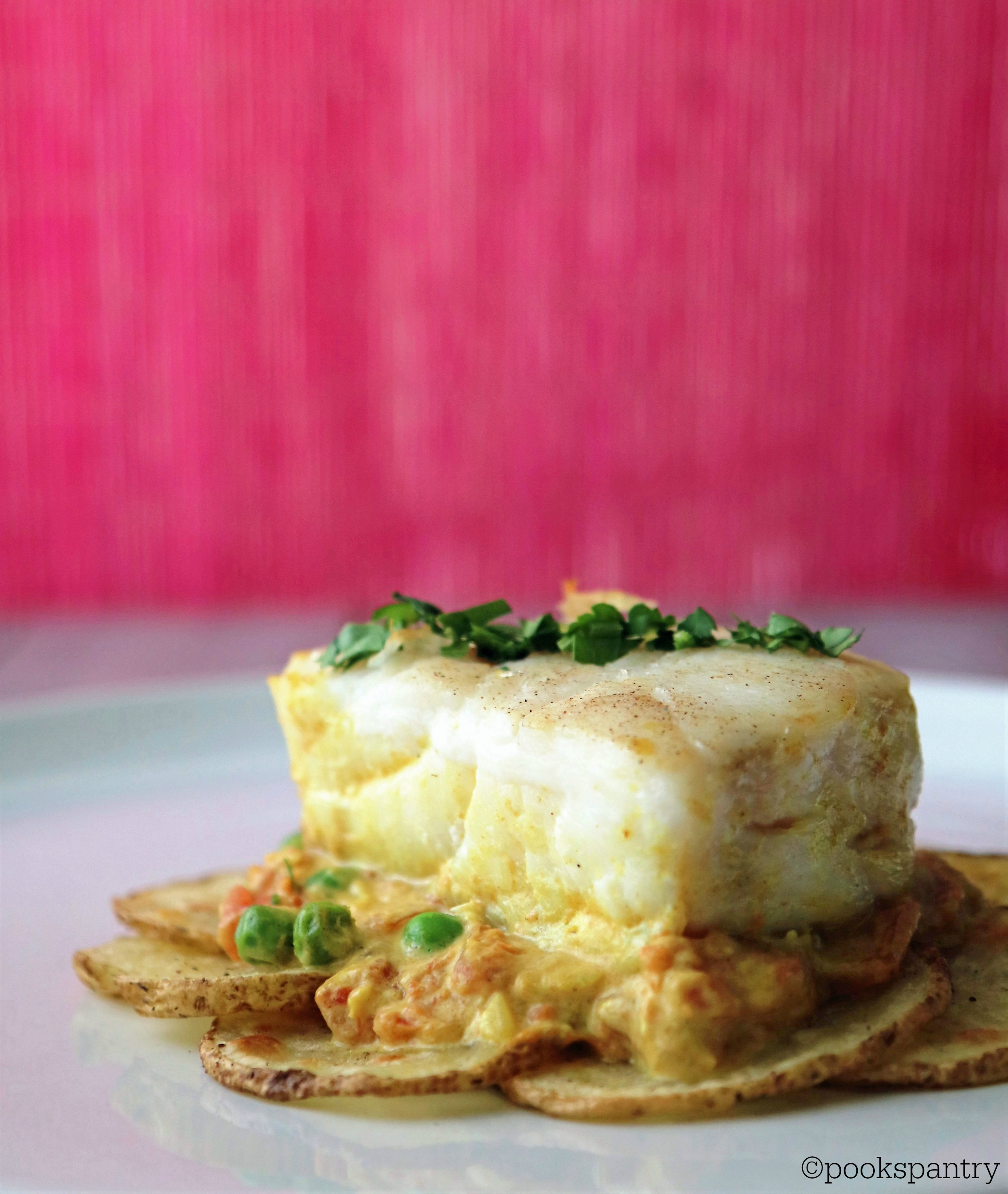 Corvina and Idaho Potatoes with Coconut Curry