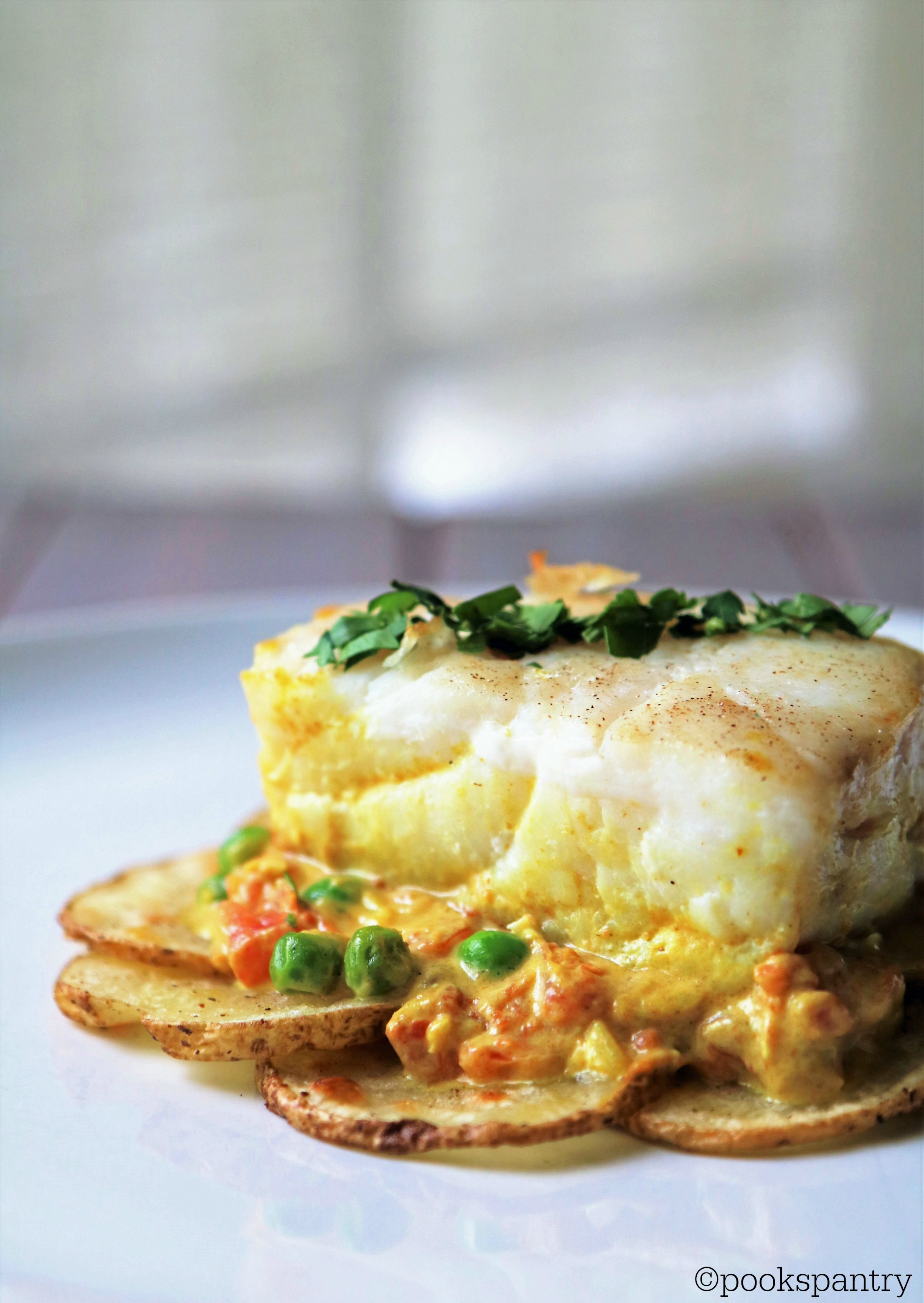 Corvina and Potatoes with Coconut Curry