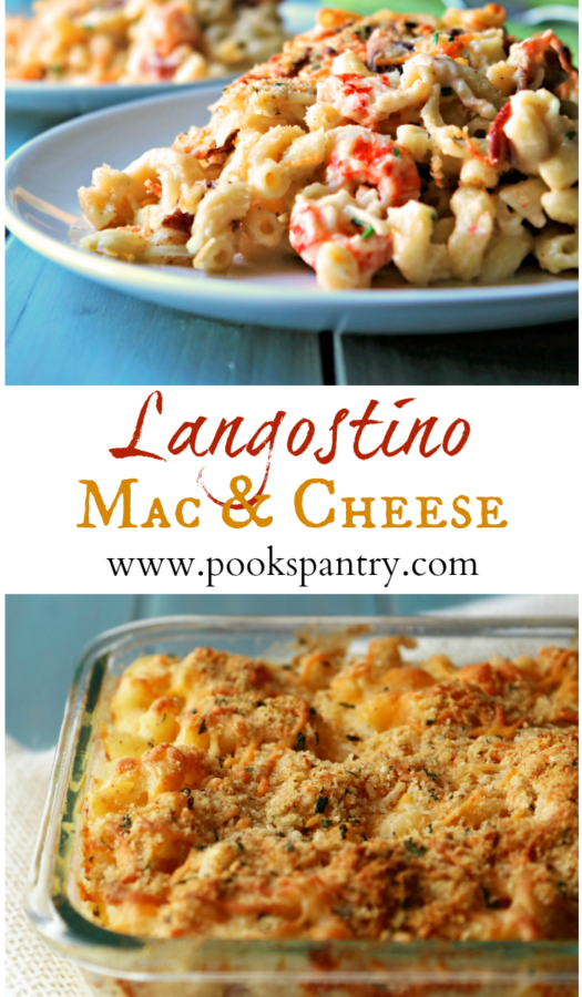 langostino mac and cheese collage for pinterest