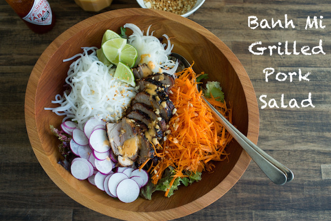 Banh Mi Grilled Pork Salad - photo and recipe by Chez Us (Denise)