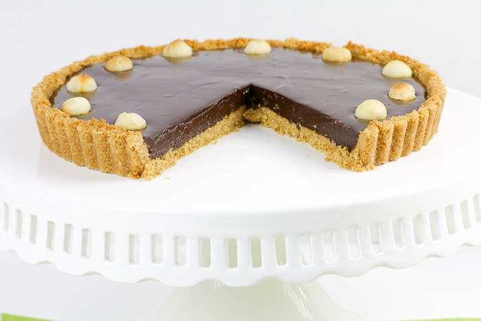Chocolate Macadamia Tart - photo and recipe by Desserts Required (Betsy)