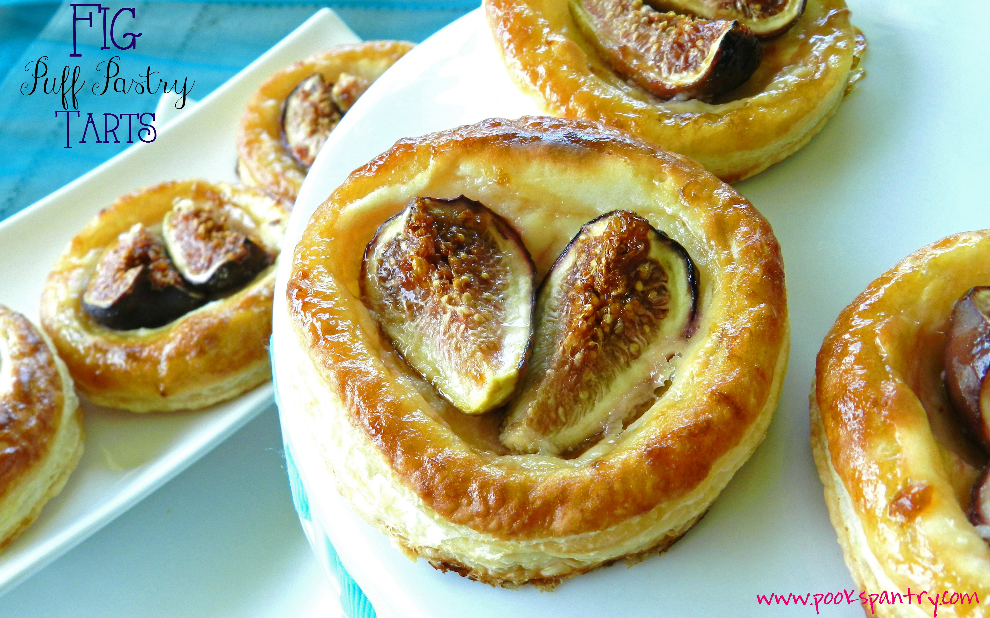 Fig Puff Pastry Tarts - Pook's Pantry