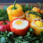 Baked Eggs in Mini Bell Pepper Cups