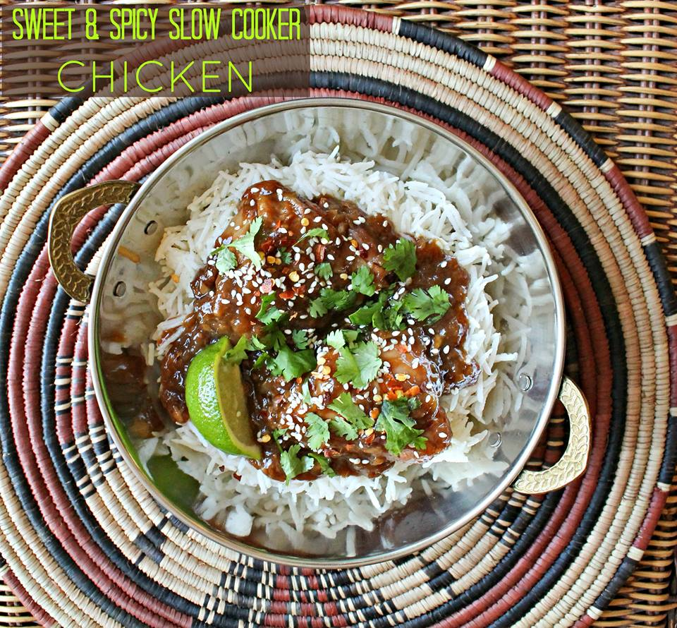 Sweet & Spicy Slow Cooker Chicken