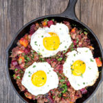 Roasted Red Flannel Hash with Country Sausage
