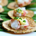 Lobster on Thick Cut Idaho® Potato Chips with Spicy Saffron Aioli