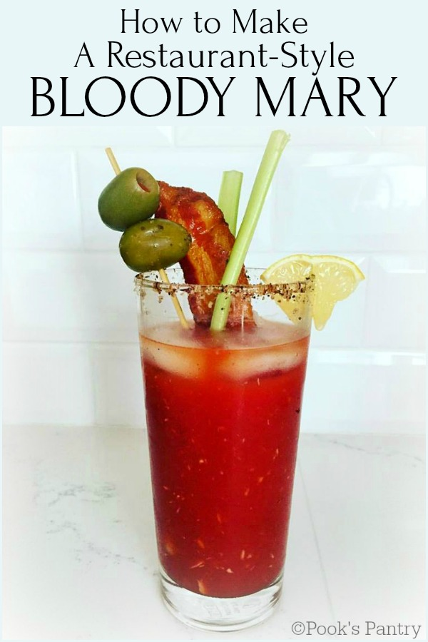 bloody mary against white tile background