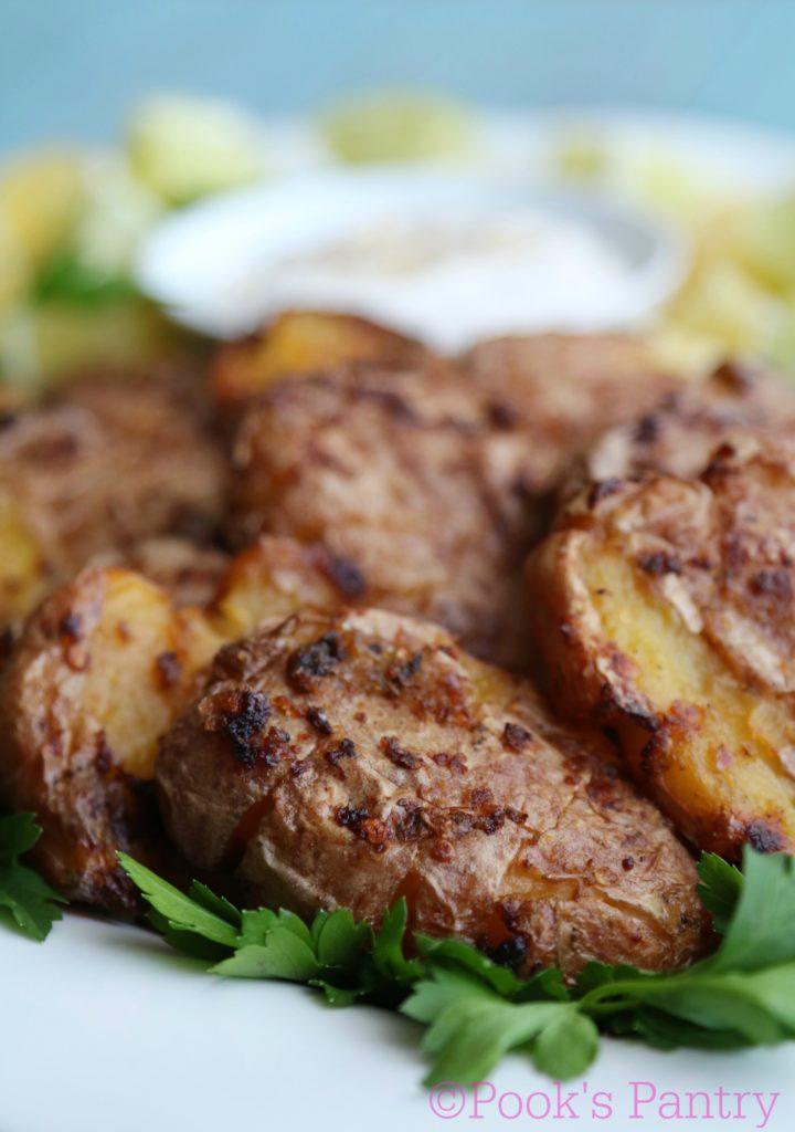 Crunchy Crash & Burn Potatoes