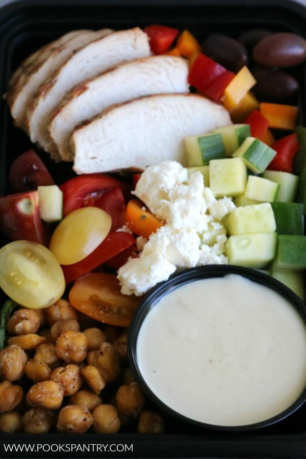 mediterranean chicken bowl for lunch