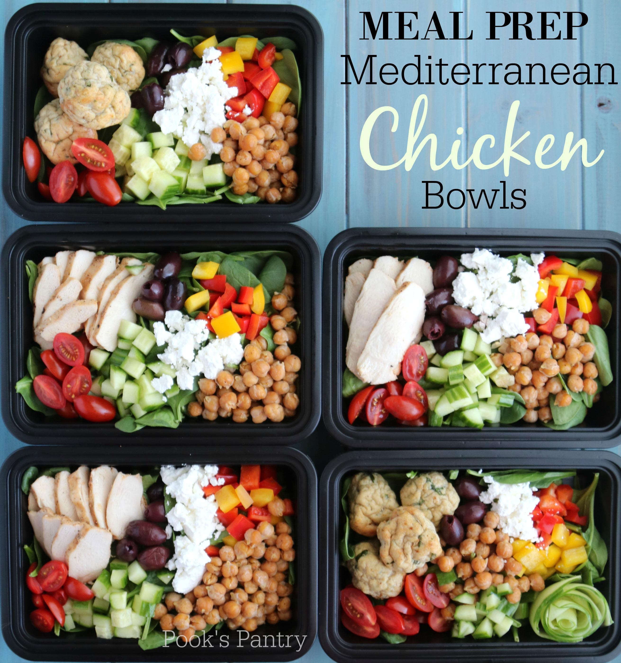 Meal Prep Mediterranean Chicken Bowls
