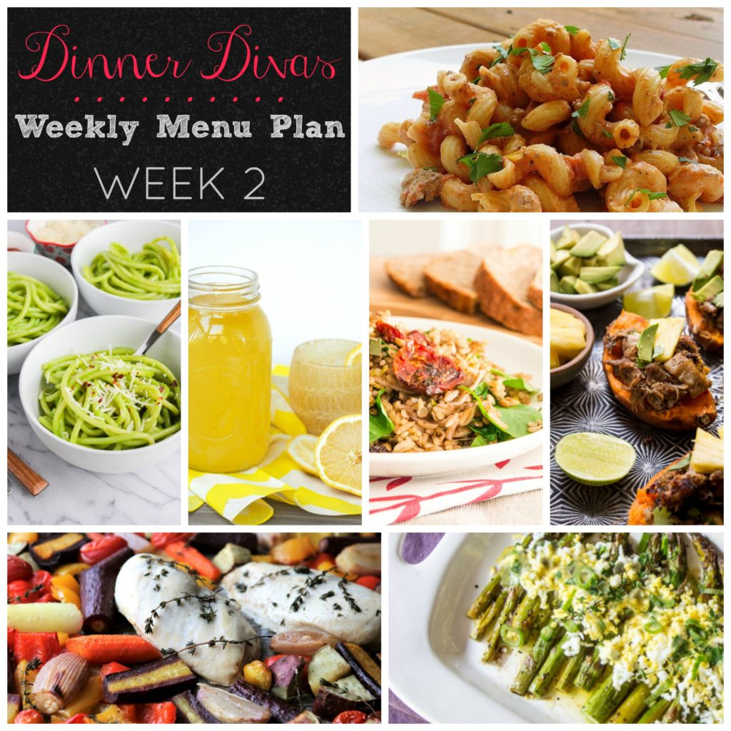 Dinner Divas Weekly Menu Plan - Week 2 | Pook's Pantry