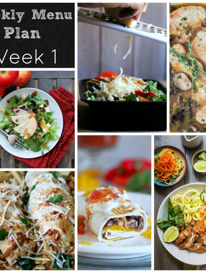 week one meal plan