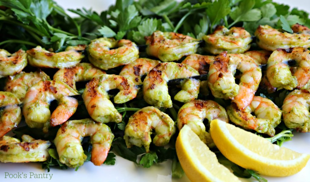 Grilled Lemon Herb Shrimp | Pook's Pantry