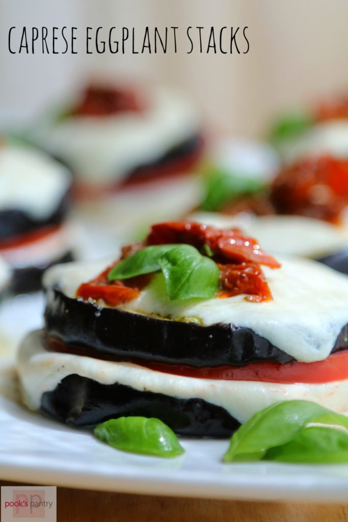 Caprese Eggplant Stacks | Pook's Pantry