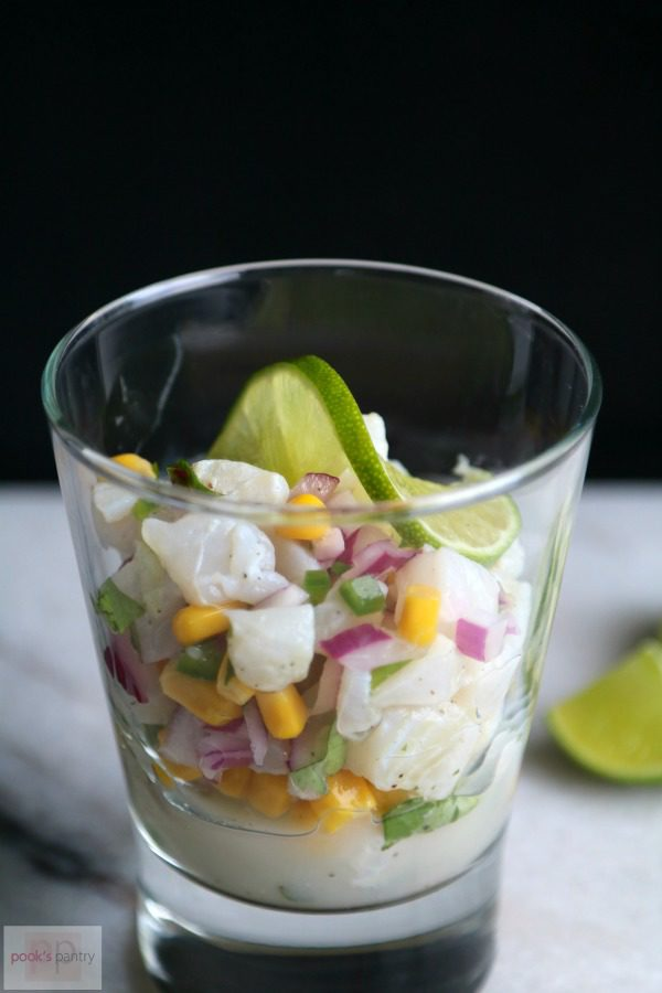 Ceviche with Fresh Summer Sweet Corn, Red Onion and Jalapeño | Pook's Pantry