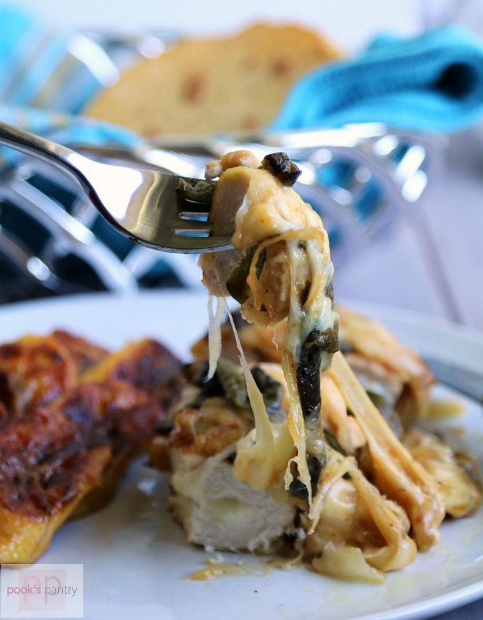 Cheese Stuffed Queso Fundido Chicken | Pook's Pantry