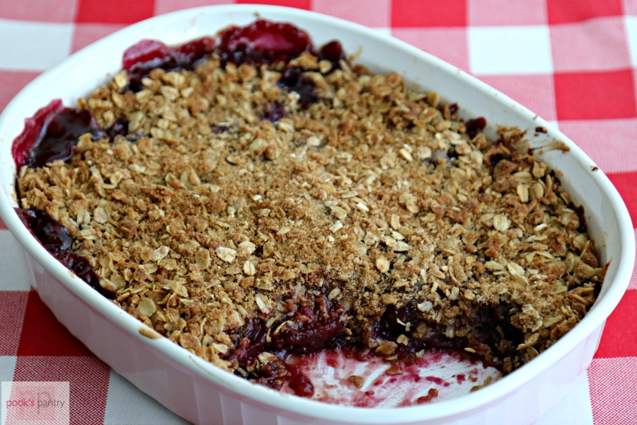 Fresh Cherry Crisp from Scratch