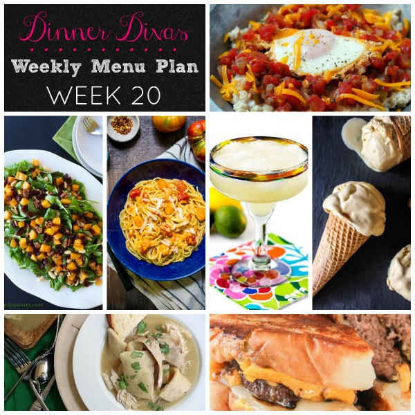 Dinner Divas Weekly Menu Plan - Week 20