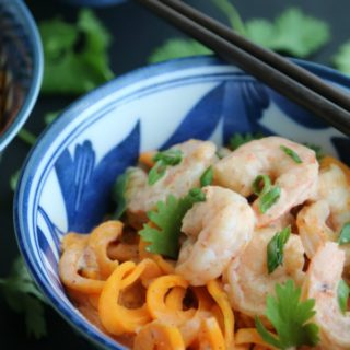 Thai Red Curry Shrimp with Sweet Potato Noodles | Pook's Pantry