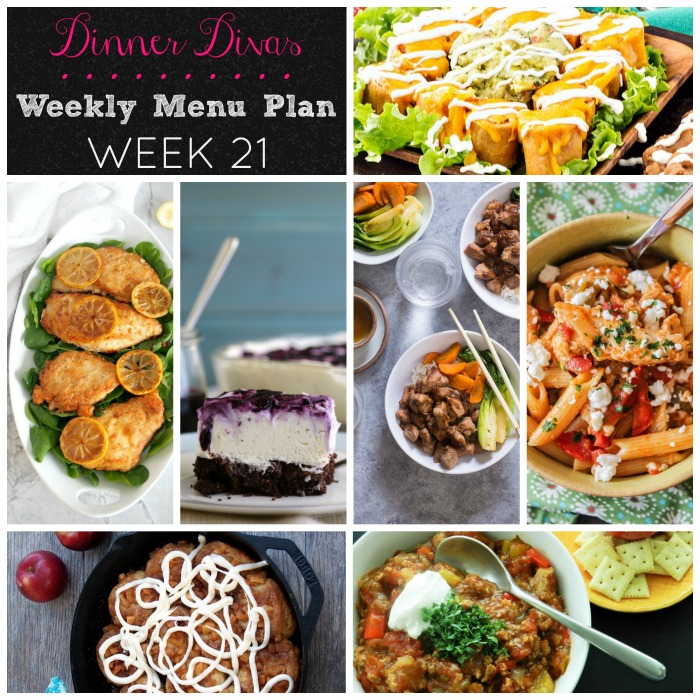 weekly menu plan - week 21