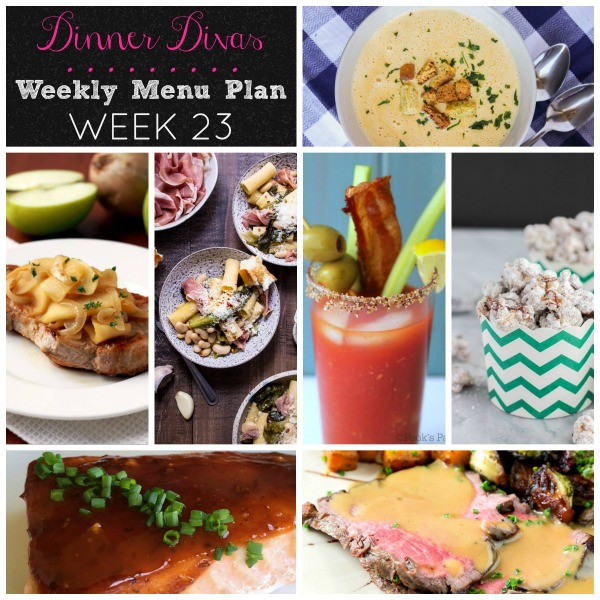 Dinner Divas Weekly Menu Plan: Week 23