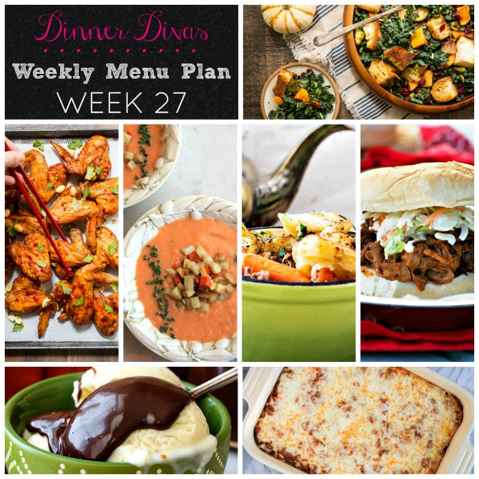 Dinner Divas Weekly Menu Plan: Week 27 | Pook's Pantry