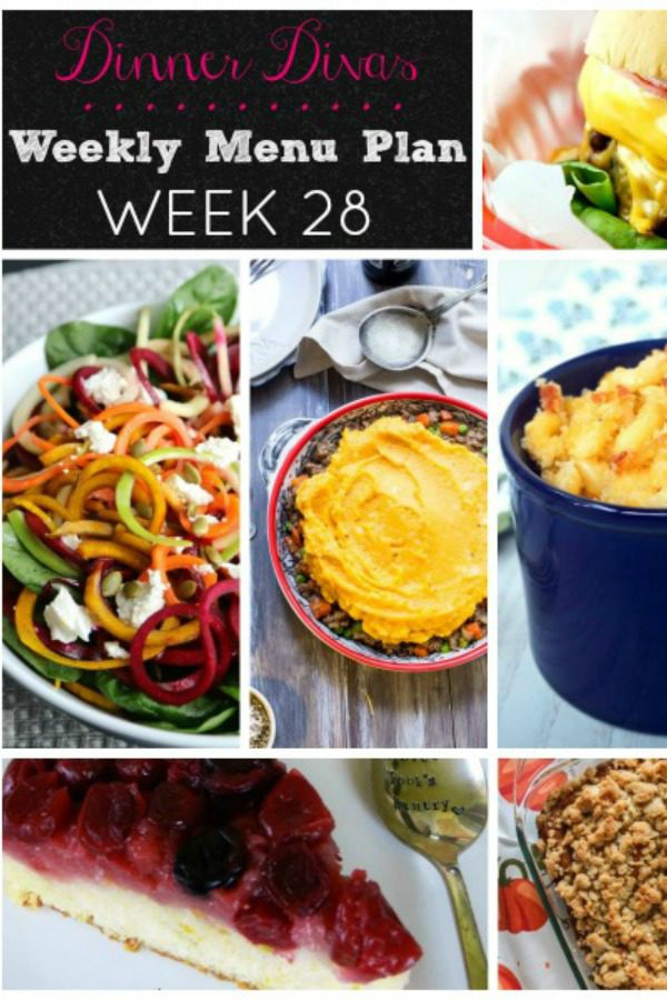 Menu Plan week 28