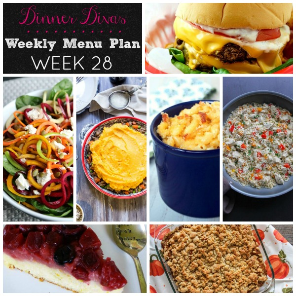Menu Plan Week 28