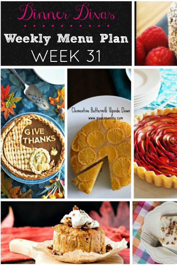 Dinner Divas Desserts Week 31