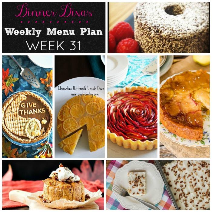 Dinner Divas DESSERTS - Week 31
