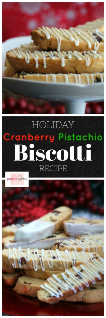 Cranberry Pistachio Holiday Biscotti | Pook's Pantry
